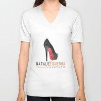 oitnb V-neck T-shirts featuring Natalie Figueroa | OITNB by Sandi Panda