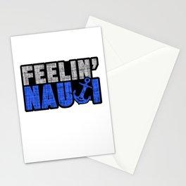 Feelin' Nauti Nautical Marine Seaman Seamanship Ship Boat Maritime Naval Seafaring Gift Stationery Cards