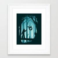 sasquatch Framed Art Prints featuring Sasquatch & Me by Jay Fleck