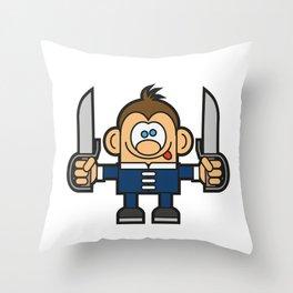 Kung Fu Cartoon Character 2 Throw Pillow