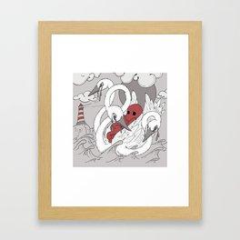 Swan Boat Framed Art Print