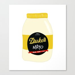 Duke's Mayonnaise Canvas Print