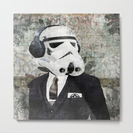 On Stormtrooper Business Metal Print