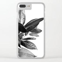 Grandiflora II - bw Clear iPhone Case
