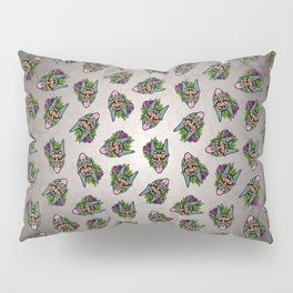Doberman with Cropped Ears - Day of the Dead Sugar Skull Dog Pillow Sham