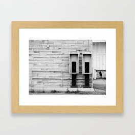 Old Soldiers in Black & White Framed Art Print