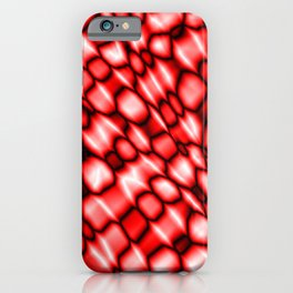 Remains of harmful vapors of the purple mesh from dark cracks on the glass. iPhone Case