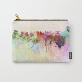 Rio de Janeiro skyline in watercolor background Carry-All Pouch