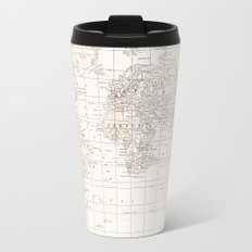 Vintage Cream and White Travel Mug