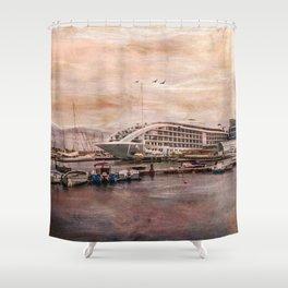 Sunborn Yacht Hotel, Gibraltar Shower Curtain