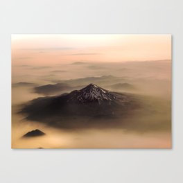 The West is Burning - Mt Shasta - nature photography Canvas Print