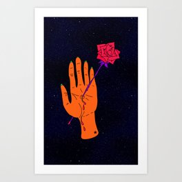 Wounded Hand // Space Art Print