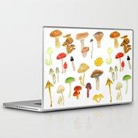 mushrooms Laptop & iPad Skins featuring Mushrooms by Lara Paulussen