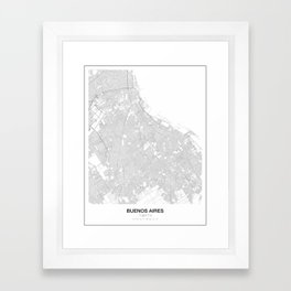 Buenos Aires, Argentina Minimalist Map Framed Art Print