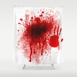Bloody Day Shower Curtain