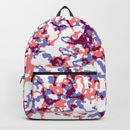 broken, red and blue Backpack