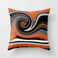 discount Throw Pillows featuring Heat wave by Roxana Jordan