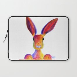 Happy Hare Rabbit ' JUST TO SAY HELLO ' by Shirley MacArthur Laptop Sleeve
