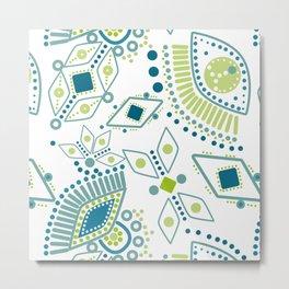 Ethnic pattern . Eye 2 . Metal Print