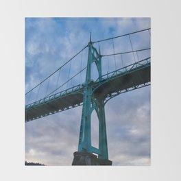 St. Johns Bridge, Gothic Tower Throw Blanket