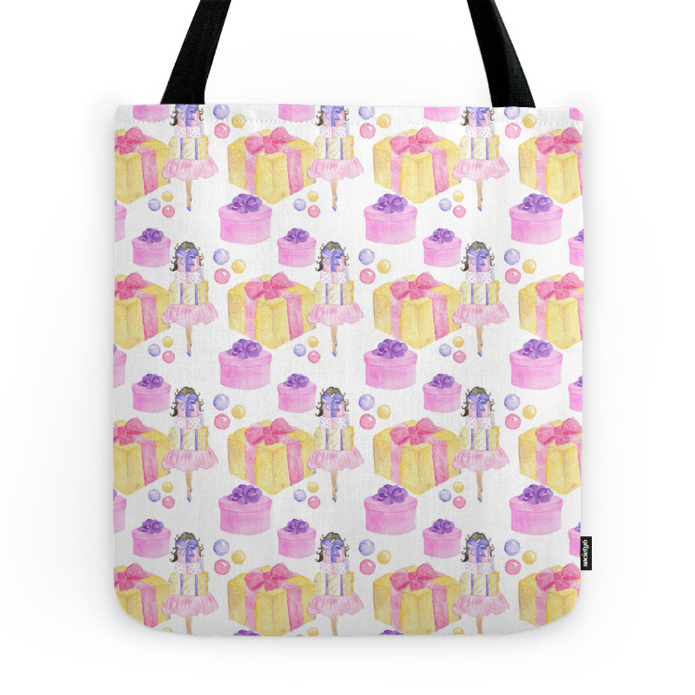 Girl With a Gift Tote Purse by graphicillustration (TBG7419219) photo
