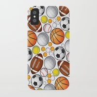 sport iPhone & iPod Cases featuring Sport Balls by Martina Marzullo Art