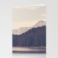 lake Stationery Cards featuring Morning Mountain Lake by Kurt Rahn