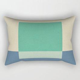 Green Square Rectangular Pillow