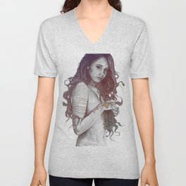 You Lied: Rainbow (nude girl with mehndi tattoos) Unisex V-Neck