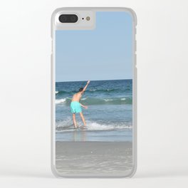 Boys on the Beach (Wrightsville Beach, NC) Clear iPhone Case