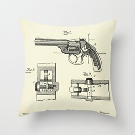 Safety Device for Revolvers-1896 Throw Pillow