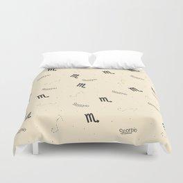 Scorpio Pattern - Beige Duvet Cover