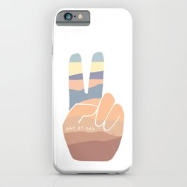 Day by Day, Desert Sunset Peace Sign iPhone Case