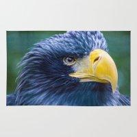 eagle Area & Throw Rugs featuring Eagle by Veronika