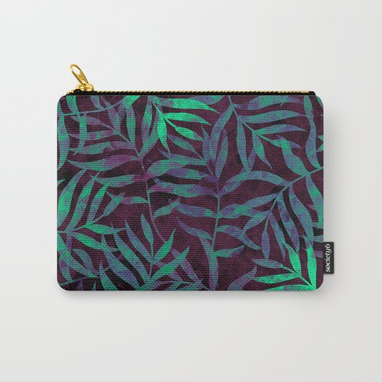 Watercolor Tropical Palm Leaves VII Carry-All Pouch