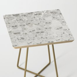 Skulls Pattern Side Table