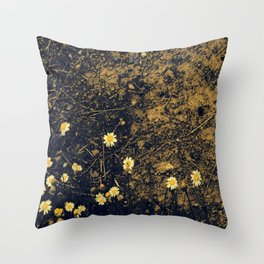 Daisys and Dirt Throw Pillow
