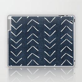 Mud Cloth Big Arrows in Navy Laptop & iPad Skin