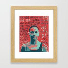 Emma Gonzalez. Framed Art Print