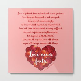 Love chapter from 1Corinthians 13 Metal Print