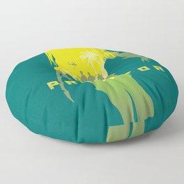 Alternative predator movie inspired art Floor Pillow