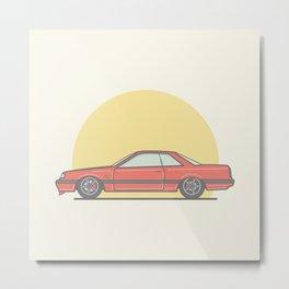 Nissan Skyline R31 Vector illustration Metal Print