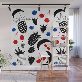 Fruit Salad white Wall Mural