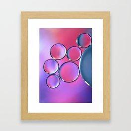 Oil On Water - Bubbles Purple & Pink Framed Art Print