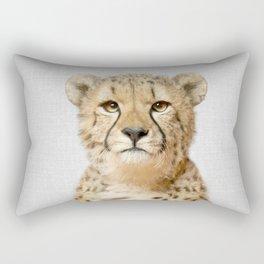 Cheetah - Colorful Rectangular Pillow