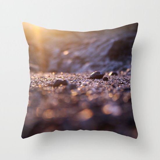 Jipa (stone) Golden Caribbean Throw Pillow