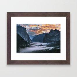 Sunrise Yosemite 10-3-18 Framed Art Print