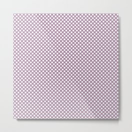 Lavender Herb and White Polka Dots Metal Print