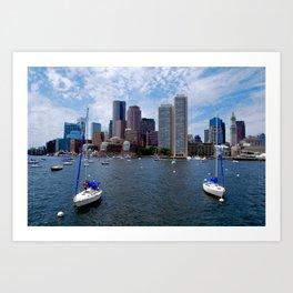 Boston Harbor, USA Art Print