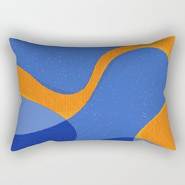 Orange Pop | Happy modern Art Rectangular Pillow